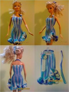 Free doll clothes, crochet doll patterns, handmade Barbie clothes