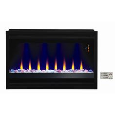 Classic Flame Contemporary Wall Mount Electric Fireplace Insert