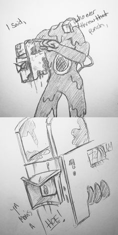 i'm crying i don't know why i thought of this batim spoilers bendy and the ink machine batim chapter 4 norman polk the projectionist Alice Angel, Just Ink, Demon Art, Bendy And The Ink Machine, Funny Games, Cartoon Styles, Funny Comics, Fnaf, Cute Art