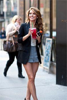High waist shorts with blazer