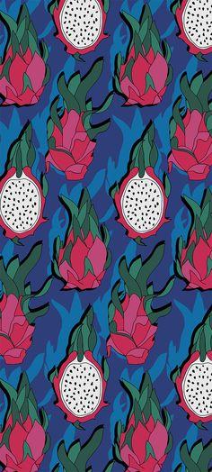 Dragon fruits pattern