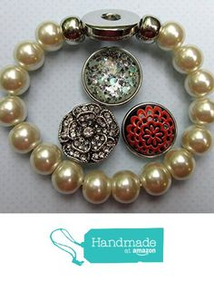 Interchangeable Snap Bracelet 3 Charm Set Mint Glitter Glass Faux Pearl Stretch from Summerfield Collection https://www.amazon.com/dp/B01F1E5CJ8/ref=hnd_sw_r_pi_dp_JxnHxb7SNJS2C #handmadeatamazon