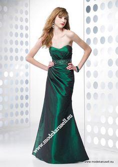 Emerald Grünes Abendkleid Lang  www.modekarusell.eu