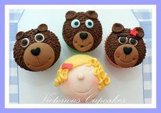 ricitos de oro  http://www.goodtoknow.co.uk/recipes/535127/goldilocks-and-the-three-bears-cupcakes
