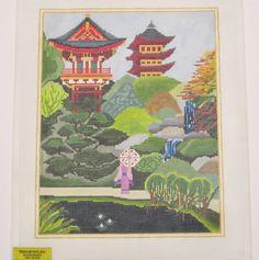 Needlepoint Japanese Garden Canvas