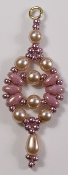 Deb Roberti's Circe Earring with Czech Glass Pearls & superduos