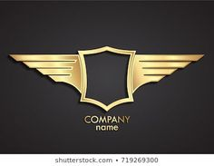 Circle Logo Design, Circle Logos, Shield Template, Trade Logo, Royal Logo, Diamond Trade, Logo Shapes, 3d Cnc, Wings Logo