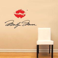 Marilyn Monroe Signature with Red Lips Large Wall Decal Sticker Home Decoration Decor, http://www.amazon.com/dp/B009BTQ8S4/ref=cm_sw_r_pi_awdm_tsH1sb15Y4DEA