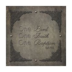 Metallic Lord Faith Baptism Stretched Canvas Prints