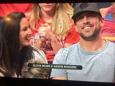 Cheering on the Badgers--with Olivia Munn & Aaron Rodgers