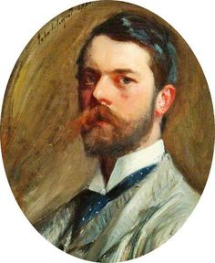 John Singer Sargent / Self Portrait / 1886 / always interesting to see a self-portrait - I like this younger self portrait of Sargent, he seems less stodgy. Oh!  How I love love love John Singer Sargent!