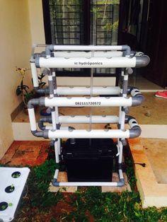 Kit Hidroponik NFT/DFT Pipa PVC 30 Lubang Fullset