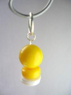 Lemonade Yellow Bead Stitch markers by beaddifferentdesigns
