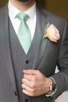 Wedding Ideas by Colour: Green Wedding Suits | CHWV
