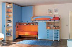 lit superposé avec rangements pour enfant (garçon) CS16 moretticompact