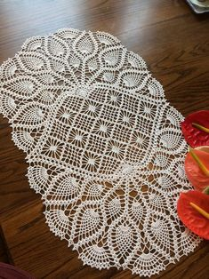 Oh What a Lovely Oval Doily; Crochet Lace doily Crochet Doily Pineapple Doily Table Centerpiece Oh What a Crochet Tablecloth Pattern, Free Crochet Doily Patterns, Crochet Designs, Crochet Tree, Crochet Dollies, Handmade Angels, Diy Crafts Crochet, Pineapple Crochet, Crochet Table Runner