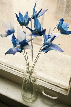 Copy This 50 Alternative Wedding Table Centrepieces Ideas - Wedding Decorations - Origami Origami Design, Origami 3d, Origami Wedding, Origami Ball, Origami Butterfly, Useful Origami, Origami Flowers, Origami Paper, Paper Flowers