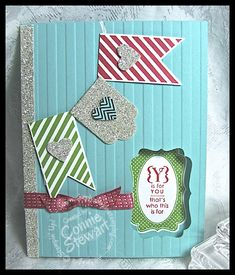 FLASH CARD 2.0 – Glimmer Banner Card – Video No. 19  Written by Connie on May 3, 2013