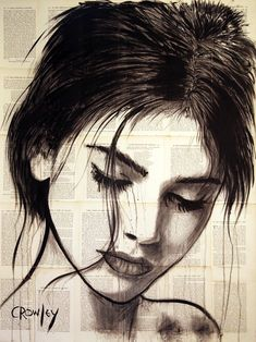"""Saatchi Art Artist darren crowley; Drawing, """"Contemplation- Portrait"""" #art"""