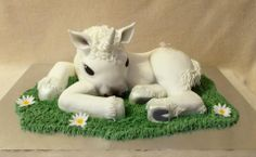 - * Large 3D Baby Unicorn cake on  24 inch board, all totally edible, made by Verity's creative cakes .