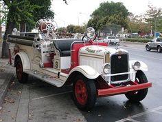 1930 GMC-American LaFrance Triple Combination fire engine....