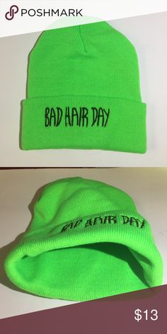 """New! """"Bad Hair Day"""" beanie -brand new! -nwt comes in original packaging -great to keep warm or to hide from a bad hair day Accessories Hats"""