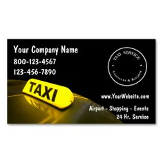 Taxi Business Cards. This is a fully customizable business card and available on several paper types for your needs. You can upload your own image or use the image as is. Just click this template to get started!