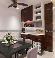 Crockery Unit With Bar Counter