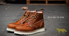 """The New 2015 6"""" Moc Toe Wedge by Golden Fox is now available."""