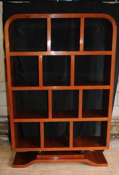 Art Deco Rosewood Bookcase Shelf Unit Cabine