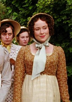Jennifer Ehle as Elizabeth Bennet in Pride and Prejudice (TV Mini-Series, 1995).