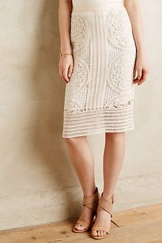 Arc Lace Skirt #anthropologie