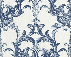 Vliestapete weiß blau Barock Tessuto 96196-4 online bestellen