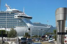 Royal Princess berthed in Toulon, a two-hour bus ride to St. Tropez.