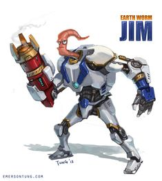 Earthworm Jim Redesign by *emersontung on deviantART
