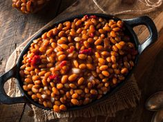 The Secret to Making Canned Baked Beans Taste Homemade. Plus a quick video on making no soak beans. Canned Baked Beans, Baked Beans With Bacon, Cooking Bacon, Cooking Tips, Cooking Stuff, All You Need Is, Dried Peaches, Baked Bean Recipes, Vegan Recipes
