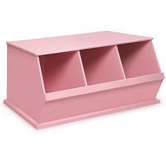 <li>Materials: MDF</li><li>Finish: Pink</li><li>Wide mouth bin openings make it easy to load and unload </li>