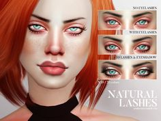 Sims 4 CC's - The Best: Natural Lashes by Pralinesims