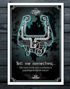 Midna's Helmet, The Legend of Zelda Twilight Princess Nintendo Geekery Poster/ Fine Art Print/ Minimalist/ Retro Gamer Art by TomRyansStudio on Etsy