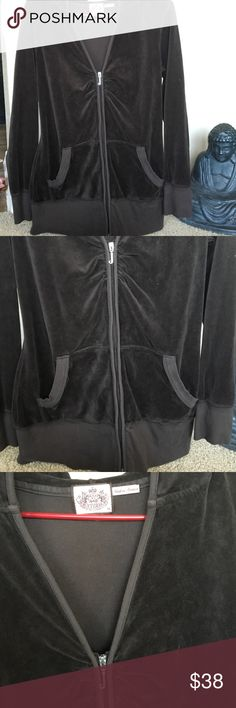 JUICY COUTURE Brown velour long  ZIP HOODY LOVE XL Juicy COUTURE LONG Velour zip up Hoody before /after exercise.. anytime Excellent CHocolate brown.. LOVE FROM JUICY COUTURE ... be happy wear juicy.... juicy couture for nice girls who like stuff .... authentic couture all in gold foil & burgundy XL Juicy Couture Jackets & Coats