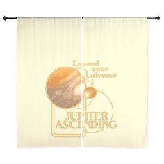 Jupiter Ascending Curtains #JupiterAscending - Expand Your Universe - Movie Feb 6 lots of designs teams #JupiterJones -see all the products here - http://www.cafepress.com/dd/90334807