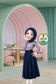 Discover recipes, home ideas, style inspiration and other ideas to try. Lovely Girl Image, Girls Image, Aesthetic Gif, Aesthetic Wallpapers, Muslim Pictures, Korea Wallpaper, London Cafe, Islamic Cartoon, Hijab Cartoon