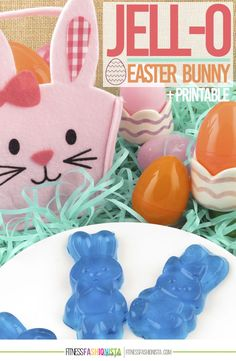 Jell-O Easter Bunny Recipe +Printable Easter Egg Matching Game - Fitness Fashionista