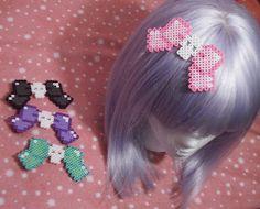 CHOOSE ONE Kawaii Skull Bow Hair Clip. $7.00, via Etsy.