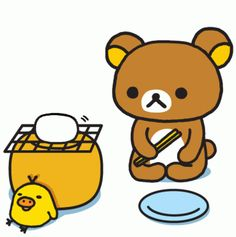 Yay Rilakkuma!! You CAN cook after all. <3