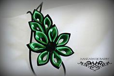 Flores para el pelo - Kanzashi de Barby - hecho a mano por barbararomero01 en DaWanda