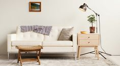 Drawer-equipped side table by Hedge House