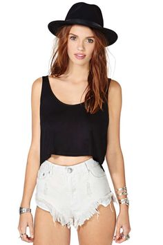 Nasty Gal Cross Off Crop Top