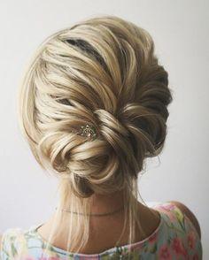 Beautiful braid + updo wedding hairstyle #weddinghairstyles