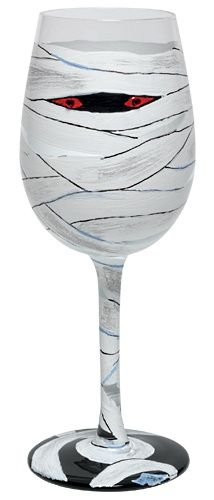 Mummy painted glass/goblet
